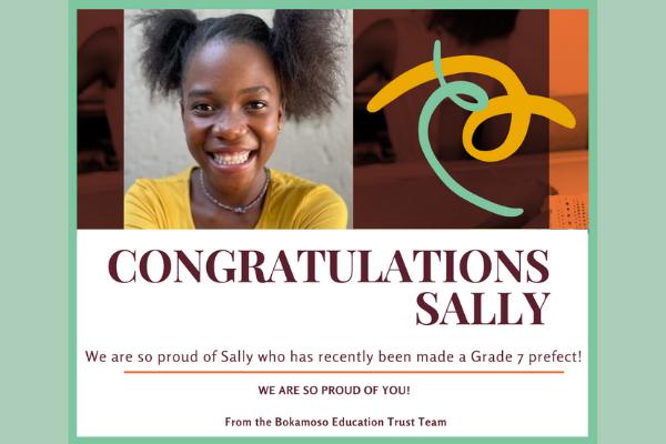 Congratulations Sally